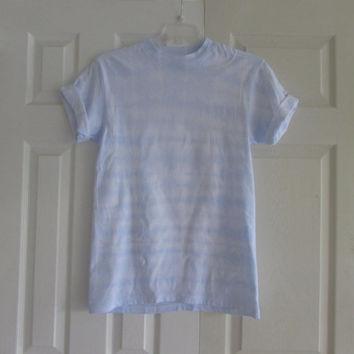 Shibori Baby Blue Casual and Simple Unisex Tee shirt