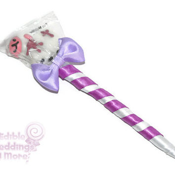 Lamb Lollipop Pen, Religious, Lamb, Lollipop Pen, Candy Pen, Baptism, Favor, Christening, First Communion, Candy Favor, Lollipop Favor