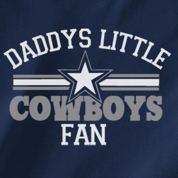 Navy Custom 2 Color Daddys Little Dallas Cowboys Fan Toddler Child Youth Kids Football Tee Tshirt T-Shirt