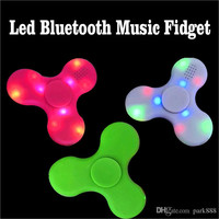 2017 Led Bluetooth Music Fidget Cube Spinner Hand spinner Finger EDC Hand EDC Plastic Toy For Decompression
