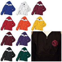 Children's Monogrammed Lined Pullover Youth 1/4 Zip Hoodie