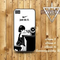 iPhone4/4S 5,Samsung Galaxy S2/S3 case- Nike Just do it-stitch