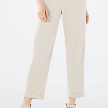 Grey BCBG Women's Cedric Relaxed Cropped Pant