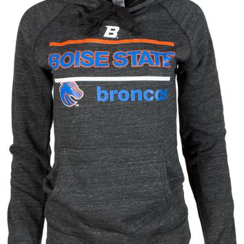 Official NCAA Boise State Broncos BSU Buster Bronco Women's Buttersoft Tri- Blend Hoodie