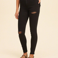Girls Ultra High-Rise Jean Leggings | Girls New Arrivals | HollisterCo.com