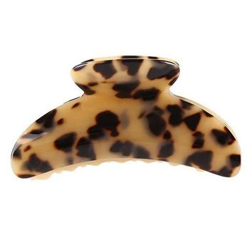 LMFONHC 10cm long Hot Sale High Quality Fashion Leopard Print Cellulose Acetate Hair Claw Clips women big size hair accessory clip