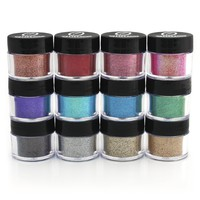 Professional Cosmetic Glitter Powder Kit (12 PK)- Safe for eyeshadow, make up, body and nails.