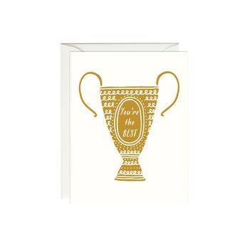 You're the Best Trophy Card (Gold Foil)