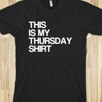 Thursday Shirt-Unisex Black T-Shirt