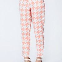 Missguided - Madge Dogtooth Print Trousers
