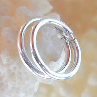 925 Sterling Silver Tube Hoop Earrings Piercing Ring,Cartilage,Helix,Tragus,Ear Hoop,Endless Hoop Pair