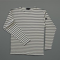 LABOUR AND WAIT | Breton Shirt - Cream/Navy
