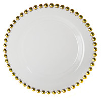 Belmont Plates, Gold, Set of 4, Dinner Plates