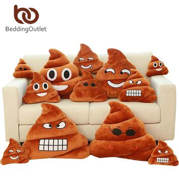 BeddingOutlet Smile Cushion Poop Emoji Pillow Special Gifts Smiley Face Pillow 3 Sizes cojines decorativos Home Decor