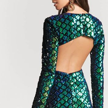 Cutout Sequin Mini Dress