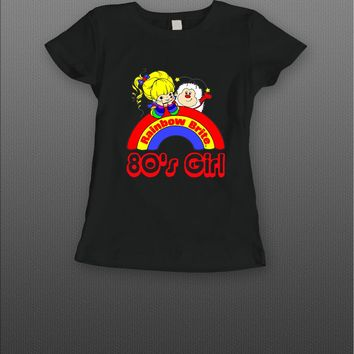 RAINBOW BRIGHT 80'S GIRL CARTOON T-SHIRT