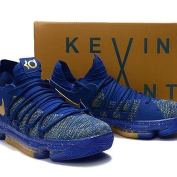 DCCKD9A Nike Zoom KD 10 Royal Blue/Gold Basketball