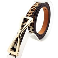 Amazon.com: Leopard Print Faux Leather Fashion Belt for Ladies, Gift for Girls: Clothing