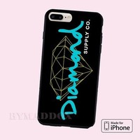 Diamond Supply Black Design Infinity CASE iPhone 6s/6s+/7/7+/8/8+, X and Samsung