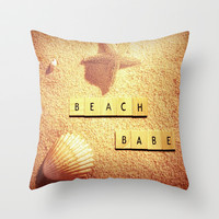 Beach Babe Throw Pillow by SSC Photography