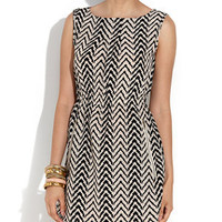 Mela Zig Zag Print Zip Pocket Dress