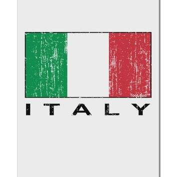 "Italian Flag - Italy Text Distressed Aluminum 8 x 12"" Sign by TooLoud"