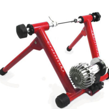 Red Portable Exercise Bicycle Trainer Cycle Indoor Bike Stand Fluid Resistance