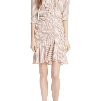 Veronica Beard Kai Asymmetrical Button Dress | Nordstrom