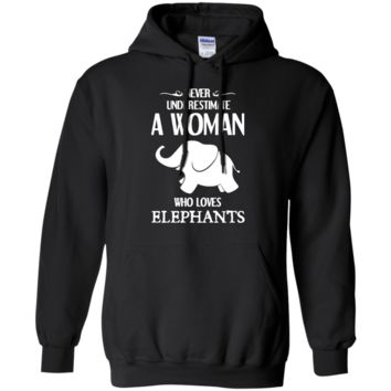 Elephant Shirt - Woman Loves Elephant Shirts G185 Gildan Pullover Hoodie 8 oz.