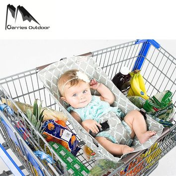 ARRIES Foldable Baby Kids Shopping Hammock Parachute Cart Cushion Trolley Pad Baby Shopping Push Cart Protection Cover Seat