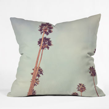Catherine McDonald Streets Of Los Angeles Outdoor Throw Pillow