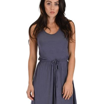 Lyss Loo At Ease Waist Tie Charcoal Tank Dress