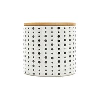 Bamboo Lid Polka Dot Canister