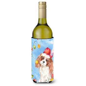 Christmas Lights Blenheim Cavalier Spaniel Wine Bottle Beverage Insulator Hugger CK2509LITERK