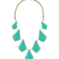 14k Gold-Plated Kensey Cabochon Necklace, Turquoise