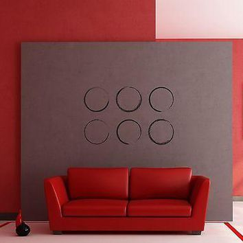 Wall Stickers Vinyl Decal Abstract Decor Modern Style Circles Unique Gift z1221