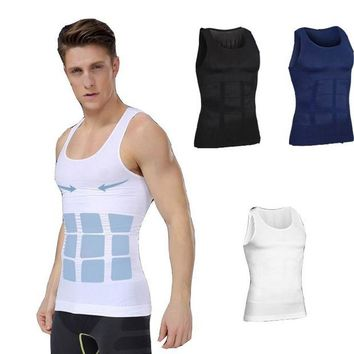 ac NOOW2 9 Colors High Quality Men Body Shaper Vest Shapewear Slimming Waist and Tummy Control Shaper Belt Underwear