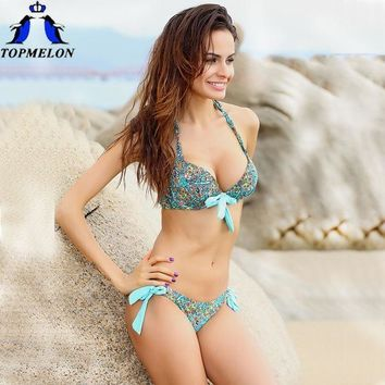 PEAPGB2 push up bikini roupa de praia  Swimwear Women Padded Boho Fringe Bandeau Bikini Set New Swimsuit Lady Bathing suit