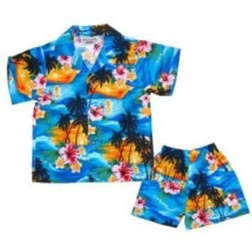 skyburst hawaiian boy cabana set