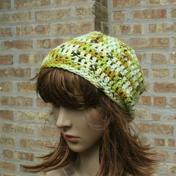 Slouchy Hat  - The eden in Limone - Slouchy Beanie - Womens Hat - Gamers Hat - Mens Hat
