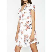 Fresh Picked Flowers Wrap Dress