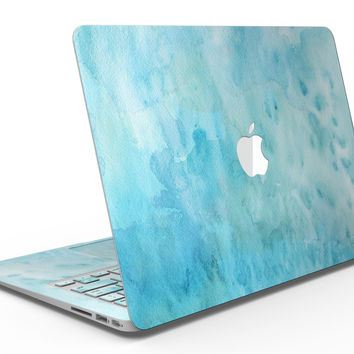 Mixed Teal 56 Absorbed Watercolor Texture - MacBook Air Skin Kit