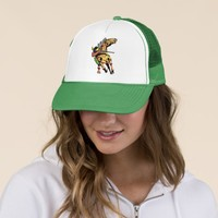 Apache Trail #1, Native American on Horseback Trucker Hat