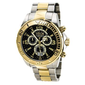 Invicta 14052 Men's Reserve Chronograph Black Dial Two Tone Steel Bracelet Dive Watch
