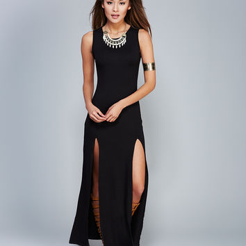 Mimi Chica™ Slit Maxi Dress | Wet Seal