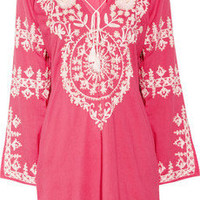 Melissa Odabash | Laura embroidered cotton kaftan | NET-A-PORTER.COM