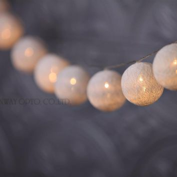 4.5M 20PCS, garland string lights, 6cm cotton ball battery light,