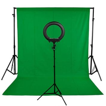 Background Stand Kit 240LED Photographic Lighting Dimmable Camera Photo Studio Phone Video Photography Ring Light Lamp 2m Tripod