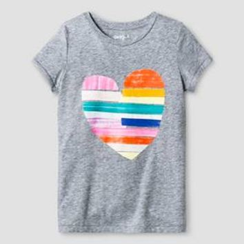 Girls' Graphic Tee Cat & Jack™ - Heart XL : Target