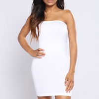 I'll Be Waiting Shapewear Dress - White